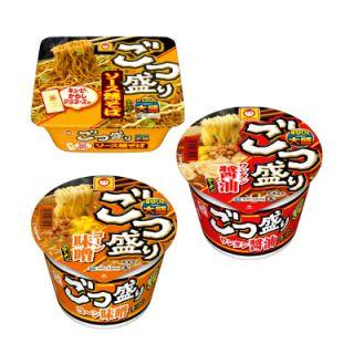 ごつ盛り(ワンタン醤油ラーメン/コーン味噌ラーメン/ソース焼そば)