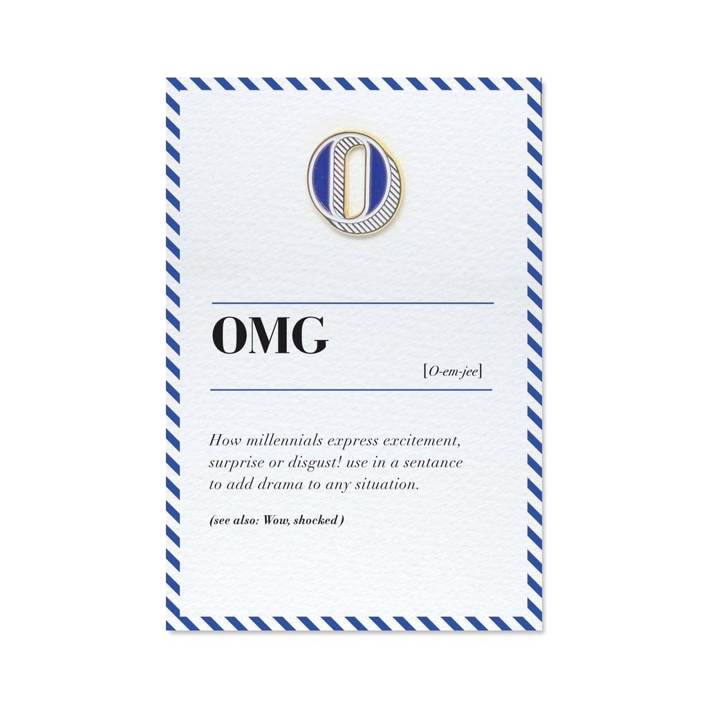【 O / OMG 】琺瑯徽章字母飾品卡