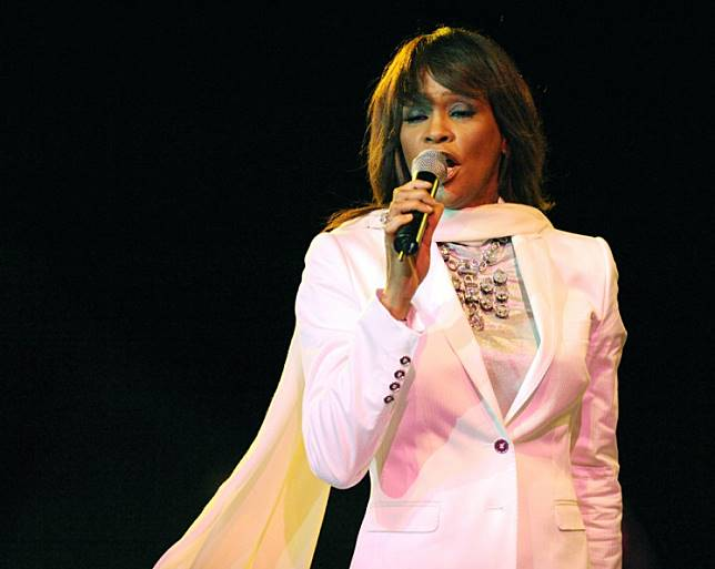 US singer Whitney Houston performs on May 24 , 2008 in Rabat during the closing concert in the Mawazine 7th festival held in Rabat, Morocco.