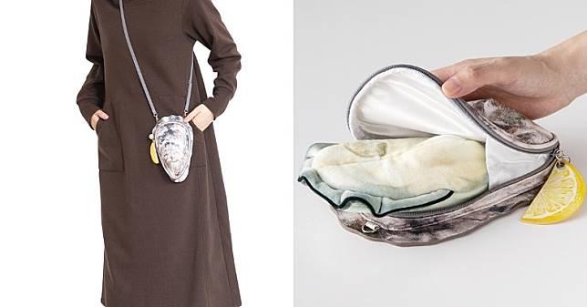 斜孭袋打開拉鏈後,即發現內裏藏有白色蠔肉收納包,而兩個袋可按用家需要而分開使用。 (互聯網)