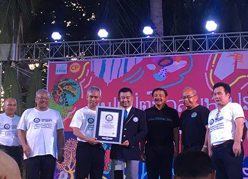 สำเร็จแล้ว!กินเนสบุ๊คจารึกไทยจัดบุฟเฟ่ต์ใหญ่สุดในโลก<br />