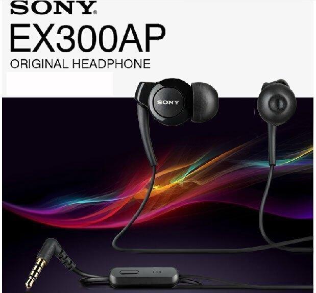 【保固一年】SONY MH-EX300AP EX300 原廠立體聲 耳機 (黑) 抗噪音高音質