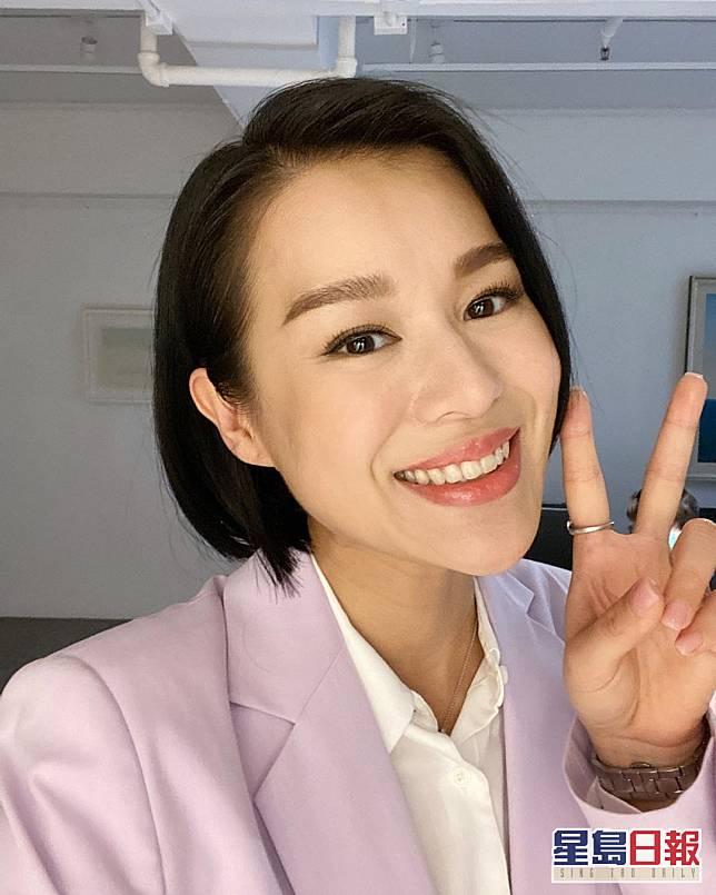 杏兒剛剛拍攝完ViuTV新劇《熟女強人》。
