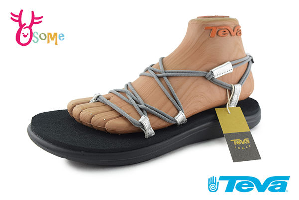 TEVA VOYA INFINITY 成人女款 休閒織帶涼鞋 羅馬鞋 J6326#灰色◆OSOME奧森鞋業