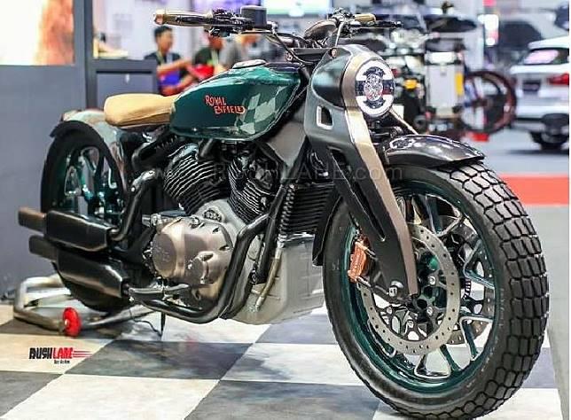 Royal Enfield membawa motor konsep KX berkapasitas 830cc di Bangkok Motor Show 2019. Sumber: rushlane.com
