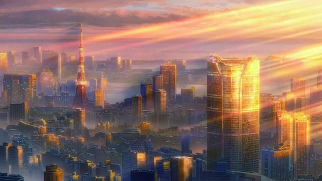 新海誠在電影中擅長運用的光暗變化。(互聯網)
