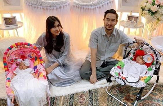 Aqiqah Anak Kembar, Syahnaz Sadiqah - Jeje Govinda Undang Anak Yatim Piatu
