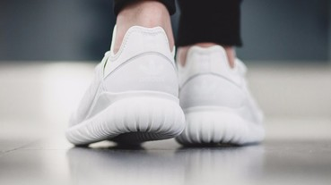 "白到徹底! adidas Tubular Radial ""Crystal White"" 鞋款!"