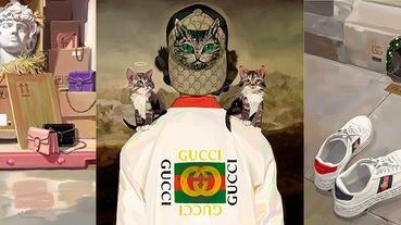 藝術家操刀的Gucci聖誕形象廣告,小編已設成手機桌布惹~