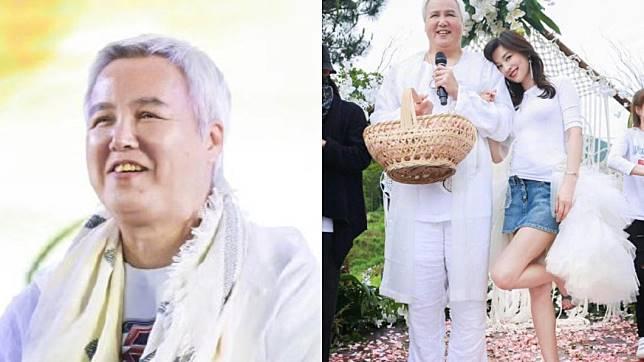 林瑞陽先前出席活動時,白衣套裝再加上圓潤體態,被網友調侃是「張庭的老奶奶」。圖/翻攝自微博