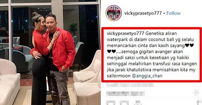 5 Caption Vicky Prasetyo untuk Anggia Chan, bikin gagal paham