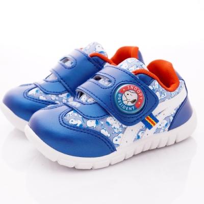 SNOOPY童鞋 史努比電燈運動鞋款 NI5116藍(中小童段)