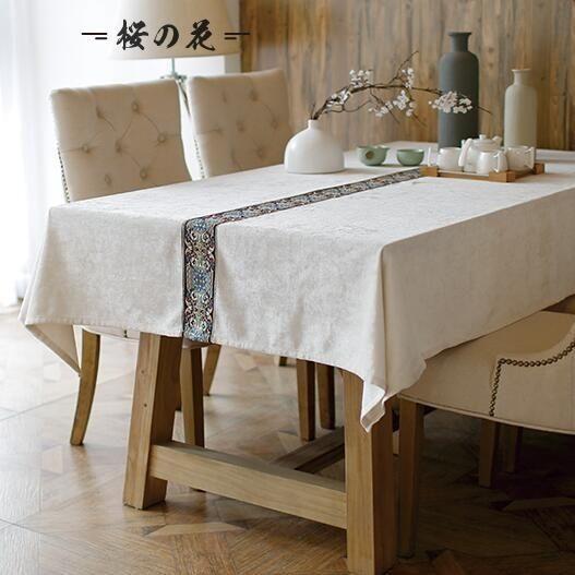全館83折 中式現代北歐美式日式布藝桌布 蓋巾 茶幾布 餐桌布 臺布 可定做【櫻花本鋪】