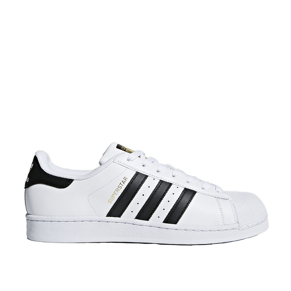 ADIDAS 男女 SUPERSTAR WHITE GOLD 皮革 金標 白黑 【C77124】【A-KAY0】