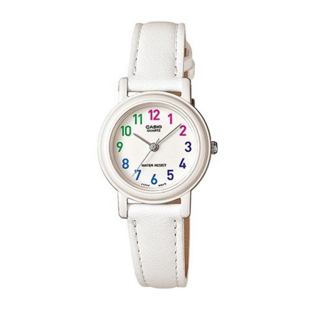 【CASIO】糖果甜心豐富馬卡龍色指針腕錶-嫩白 (LQ-139L-7B)