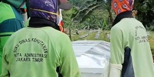 Pemakaman Pasien Positif Corona. Instagram/@evarahmisalama ©2020 Merdeka.com