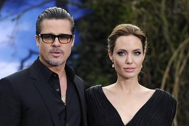 Brad Pitt dan Angelina Jolie.