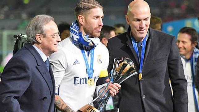 Zidane Diharapkan Bisa Bujuk Ramos Agar Tak Tinggalkan Real Madrid