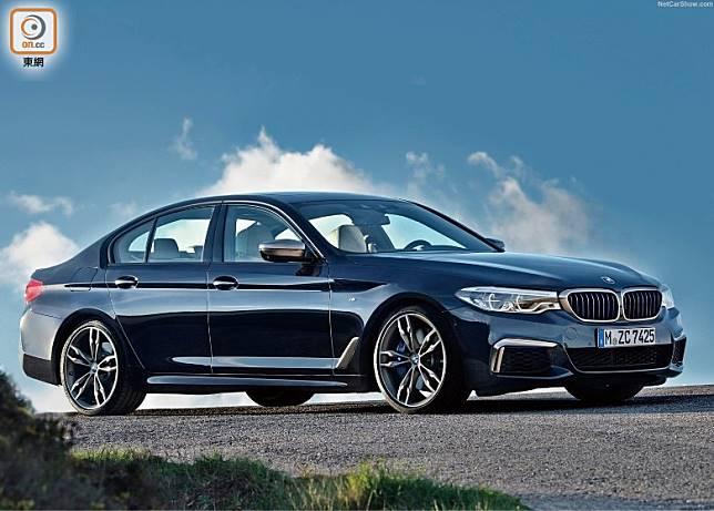 BMW將在今年夏季為M550i配上全新引擎,馬力提升至530hp之勁。(圖為現行款式)(互聯網)