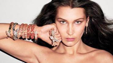 Bella Hadid 性感演繹「丹寧x珠寶」,這麼狂野的珠寶視覺你看過嗎?