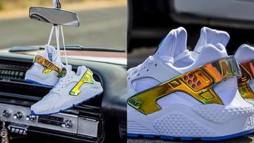 Nice Kicks x Nike Air Huarache 武士鞋聯名款 金色元素帥到讓你心癢癢!