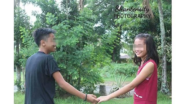 Alamak Foto Foto Sepasang Remaja Yang Berpose Bak Pemotretan Pre