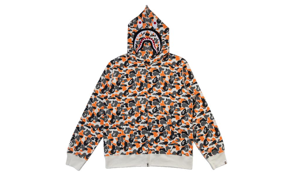 Master & Dynamic Shark Full Zi MWB0701 Master & Dynamic Shark Full Zip Hooded Sweatshirt Orange Camo