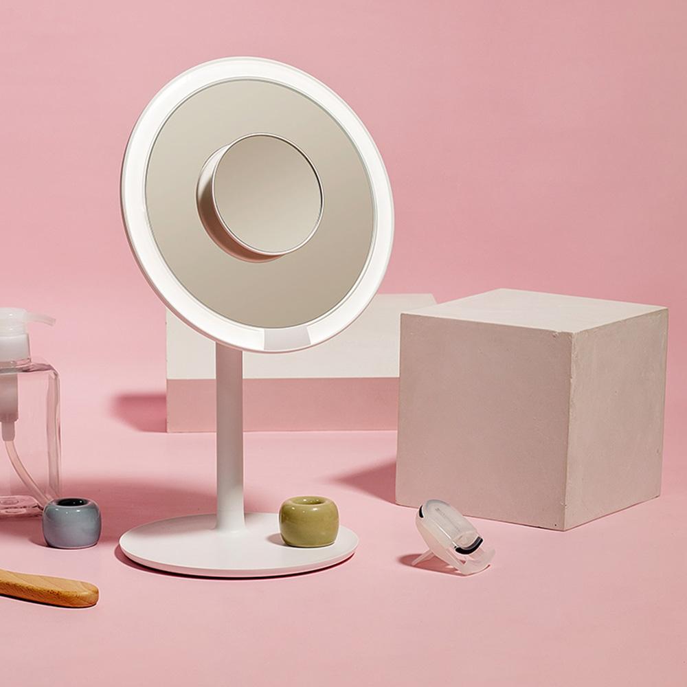 LED桌上化妝鏡推薦2. AMIRO Mini 高清日光化妝鏡