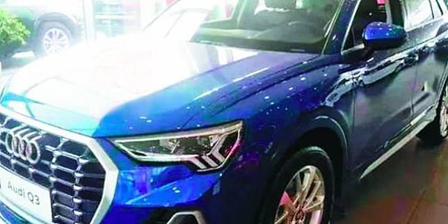Bodi mobil Audi tergores (Sin Chew Daily)