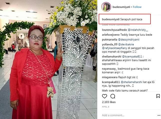 10 Caption Lucu 'Hanyalah seorang netizen' Bude Sumiyati Bikin Ngakak