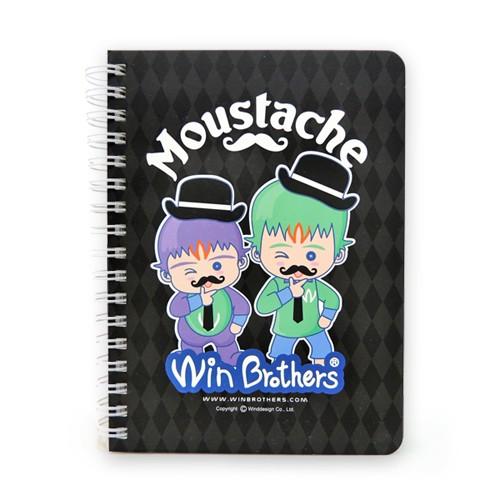 二允兄弟俏鬍子筆記本winbrothers notebook(moustache)