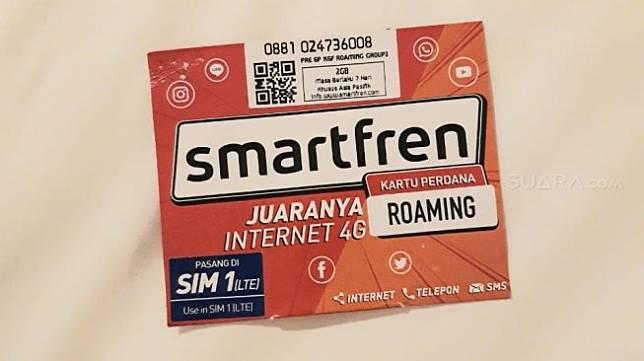 Kartu Perdana Roaming Smartfren. (Suara.com/Vania)