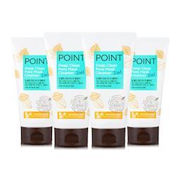 韓國愛敬POINT 毛孔淨化雙效潔顏面膜泥4入組
