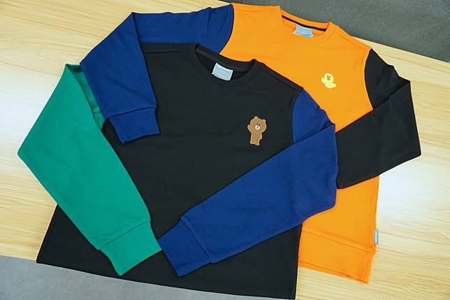 Sally & Brown及Brown & Cony衛衣袖位大玩配色。($479/件)