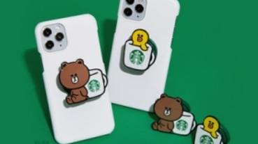 LINE Pay 聯手星巴克 集點免費換限量聯名熊大手機支架