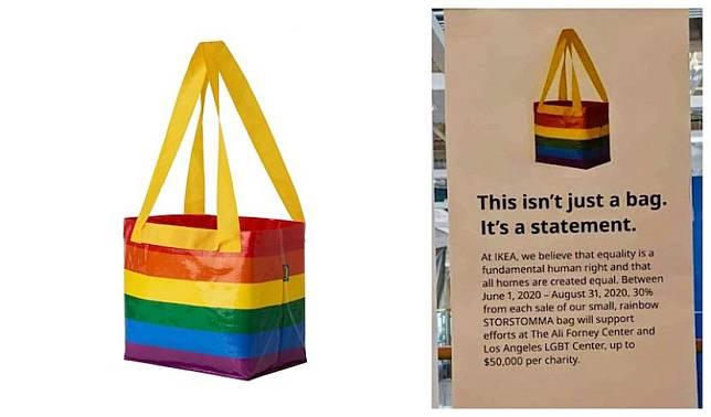 Tas LGBTQ Ikea menuai protes keras dari warganet di Malaysia.