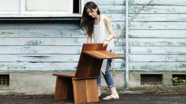 木做的變形金剛椅!是單人椅又是六人凳?