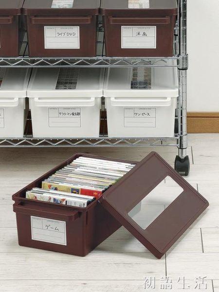 收纳盒日本進口cd收納盒 家用dvd收納碟片光盤盒漫畫專輯整理 ps4收納箱 初語生活