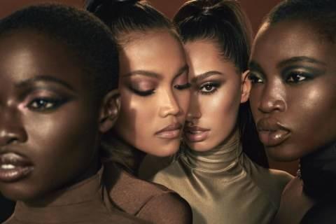 Penampilan model Laras Sekar di iklan produk makeup KKW Beauty milik Kim Kardashian. Foto: dok. @kimkardashian/ Instagram