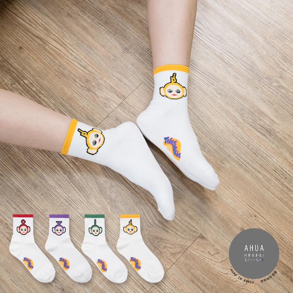 韓國襪子 天線寶寶中筒襪【K0589】韓妞必備少女襪 百搭純色襪子