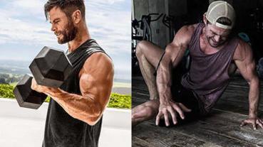 「雷神」克里斯漢斯沃居家健身菜單:教你用「洗衣精」當啞鈴完成高強度訓練!