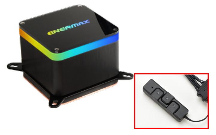 水冷頭安裝可定址 RGB LED,並隨貨附贈控制器