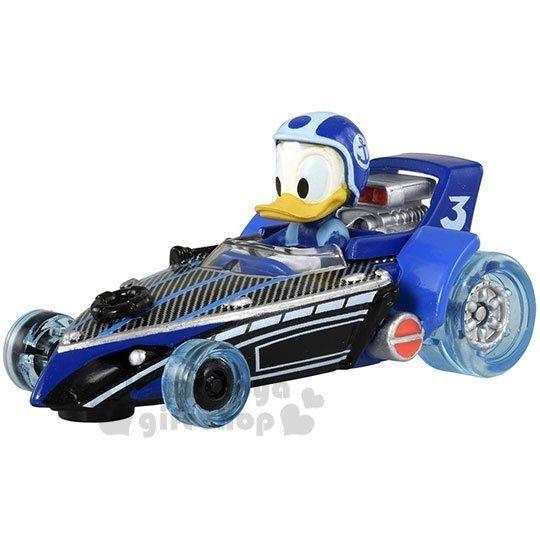 〔小禮堂〕迪士尼 唐老鴨 TOMICA小汽車《藍.賽車.MRR-10》公仔.玩具.模型 4904810-12814