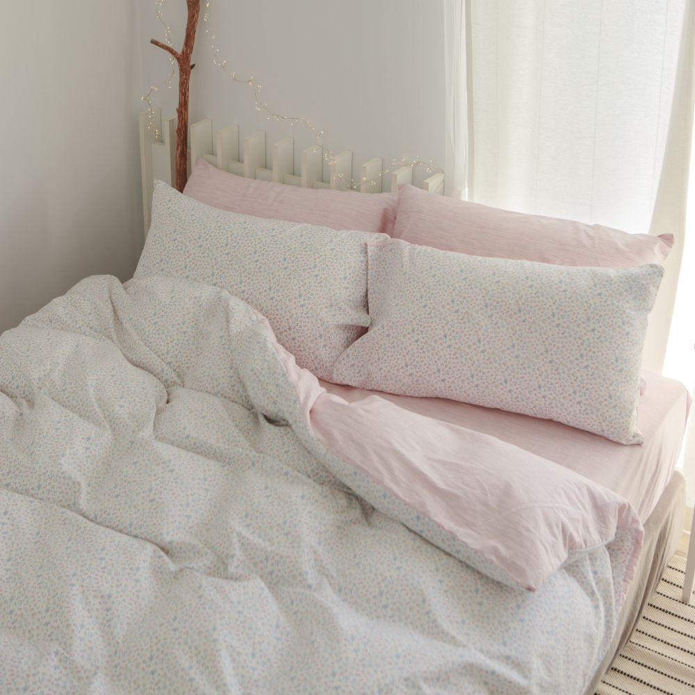 床包被套組(薄被套)-特大 / 100% 精梳純棉/ 小實