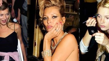化妝絕對要學Kate Moss,從20~40世代一路時髦從不落拍