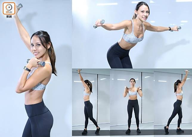 健身教練Jennifer擁有10年經驗,擅長於肌力與體能訓練及減肥收身。(張群生攝)