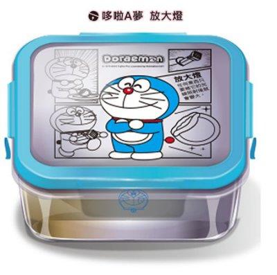 7-11 哆啦A夢 樂遊一夏 漫畫風玻璃便當盒 - 哆啦A夢款
