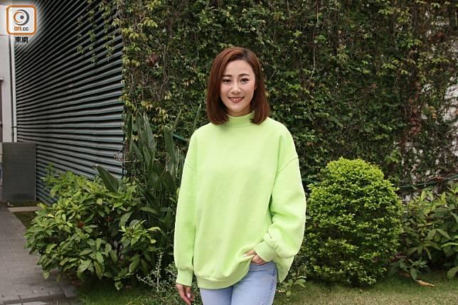朱智賢為新劇《食腦喪B》開工。