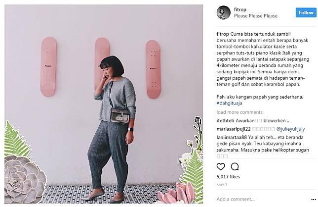 9 Caption Foto Instagram Fitri Tropica Yang Sukses Bikin Ngakak Brilio Net Line Today