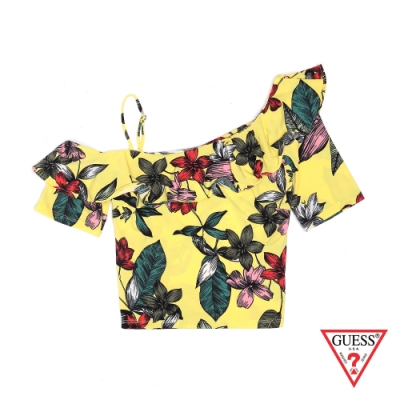 熱帶印花圖騰 領口荷葉修飾身形 展現女性魅力